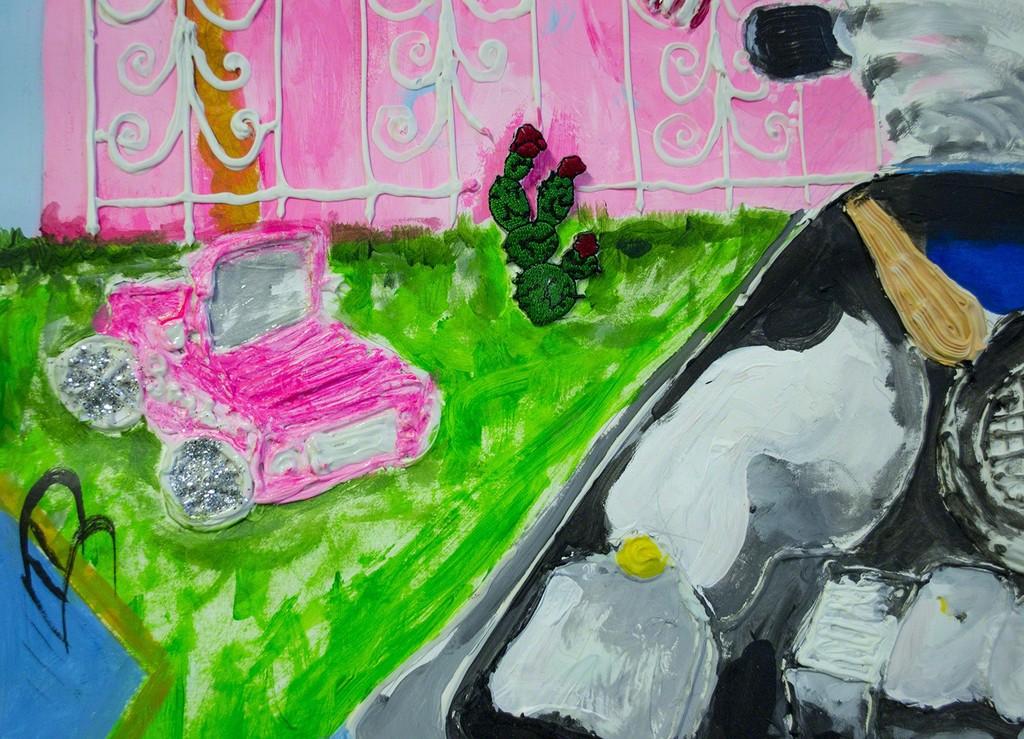 Yvette Mayorga, 4 Real (Crossing inside a car) (detail 2)