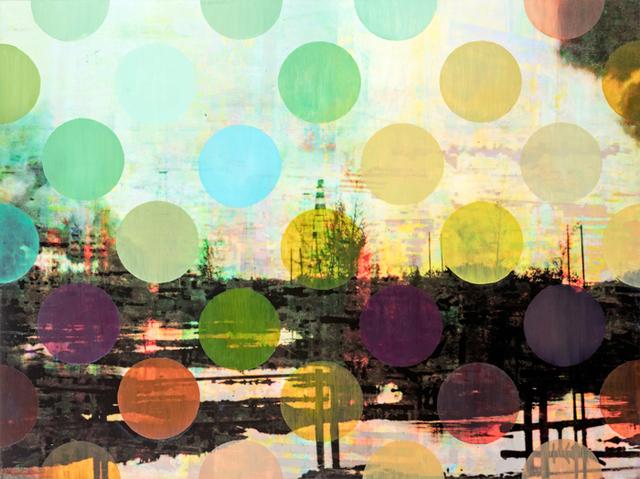 , 'Pistes et points 7,' 2015, Galerie Youn