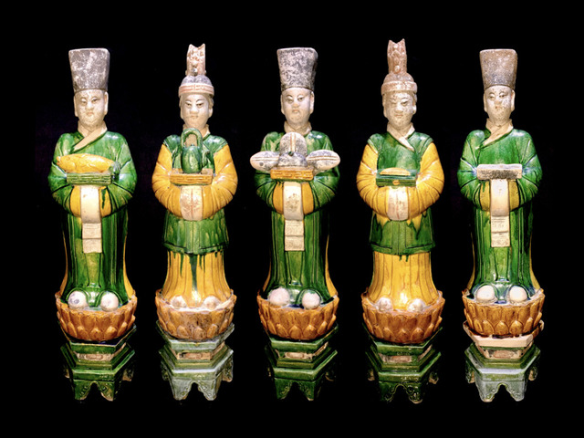 , 'Mingqi Court Attendants - Ming Dynasty ,' 1368-1644, Muzeion Gallery