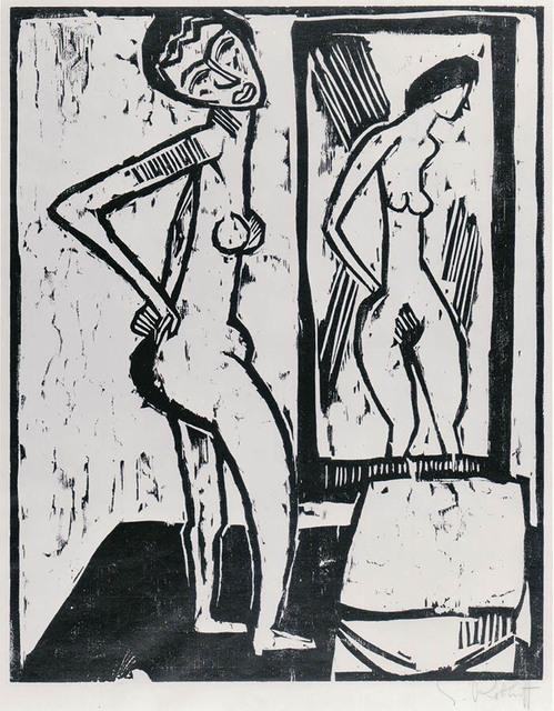 , 'Mädchen vor dem Spiegel (Girl before a Mirror),' 1914, R. S. Johnson Fine Art