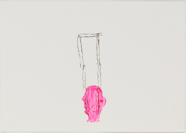 , 'Sans titre - Untitled (épingles, tête rose - pins, pink head),' 2016, Michel Rein Paris/Brussels