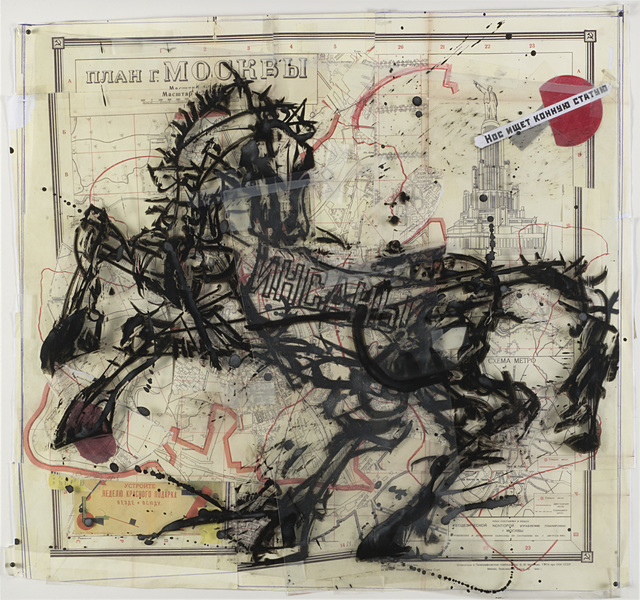 William Kentridge, 'City of Moscow (Map of the City of Moscow)', 2009, Il Ponte