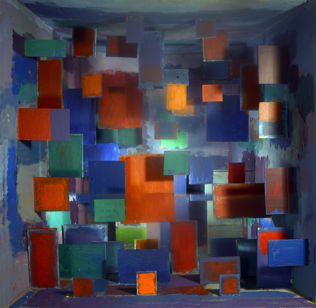 David DiMichele, 'Interdimensional Abstract Painting: Rothko in Michelangelo's Library', 2017, DENK Gallery