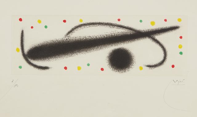 Joan Miró, 'Fusée (Rocket): one plate', 1959, Phillips