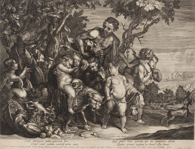 , 'Infant Bacchus on a Leopard [after Anthony Van Dyck, Flemish (1599-1641)],' ca. 1680, Childs Gallery