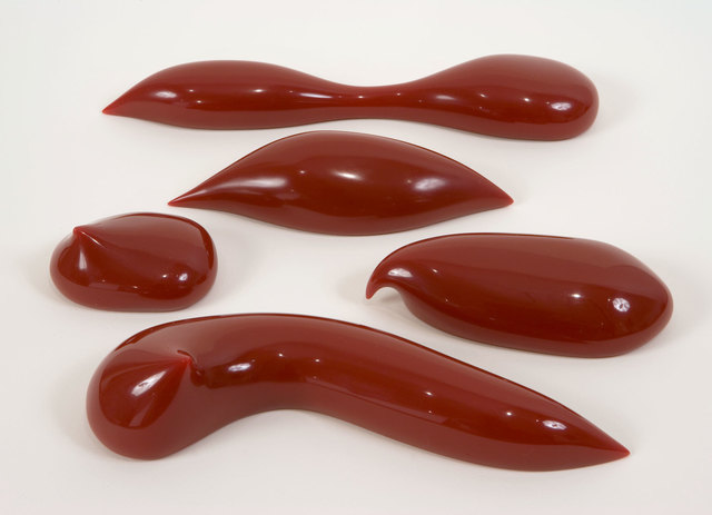 Los Carpinteros, 'Fluido', 2006, Sculpture, Set of five cast red pigmented urethane sculptures with foam-lined blow molded plastic carrying case, Graphicstudio USF
