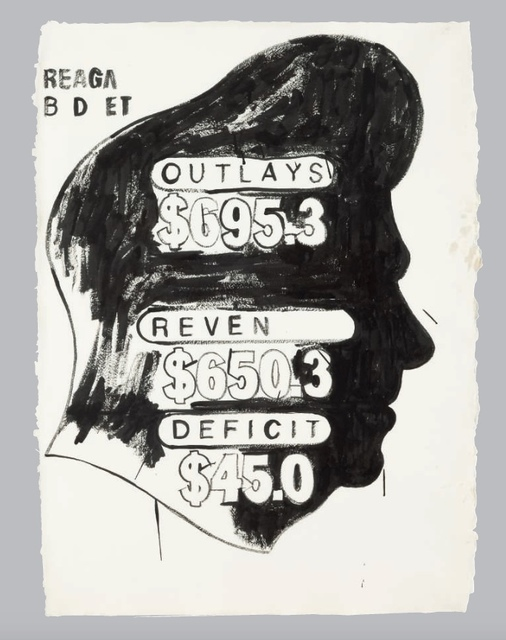 """Andy Warhol, '""""Untitled"""" (Reagan Budget)', ca. 1984, MultiplesInc Projects"""