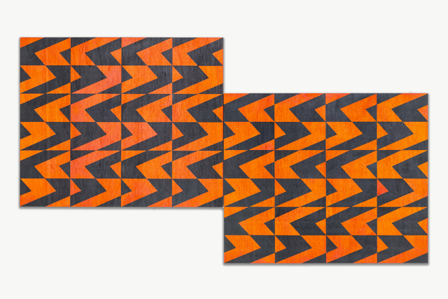 , 'Untitled (orange/p-grey),' 2018, JGM Gallery