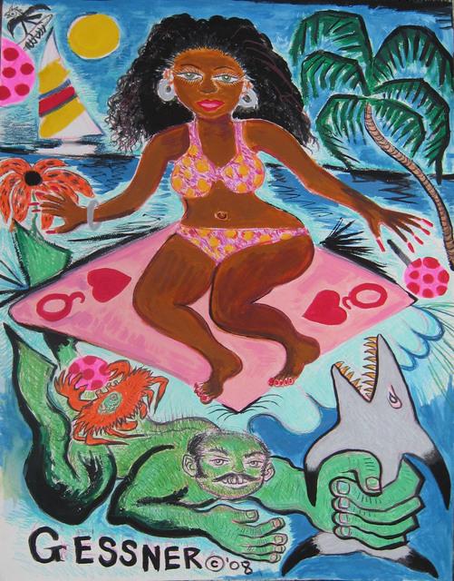 , 'Surf Goddess Ascending,' 2008, Gold/Scopophilia*