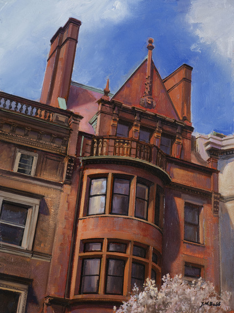 Joel Babb, 'Upstanding Victorian, Back Bay', 2020, Painting, Oil on panel, Vose Galleries