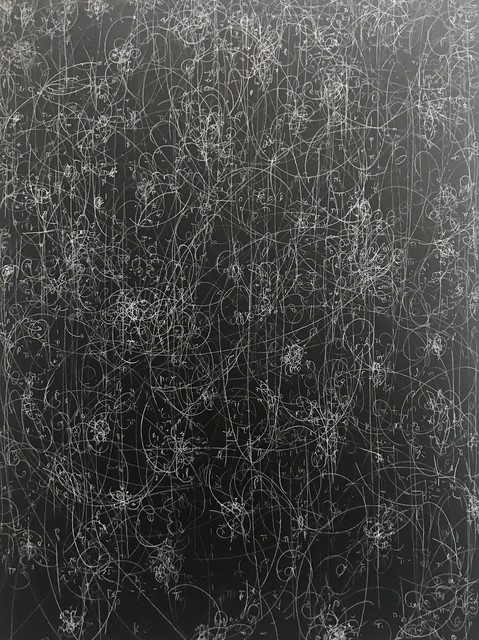 Kysa Johnson, 'Blow Up 315 - subatomic decay patterns', 2017, Fixed chalk on blackboard, SPONDER GALLERY