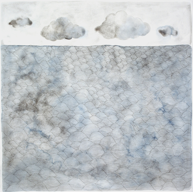 ", 'making waves ""feeling blue"",' 2015, Galerie du Monde"