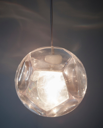 """""""Dodecahedron"""" chandelier and optical instrument"""