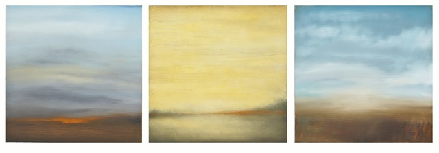 Carole Pierce, 'Water, Land, Fire-Triptych', 2014-2015, Seager Gray Gallery