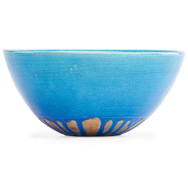 Laura Andreson, 'Bowl, turquoise drip glaze, Los Angeles, CA', 1939, Design/Decorative Art, Glazed earthenware, Rago/Wright
