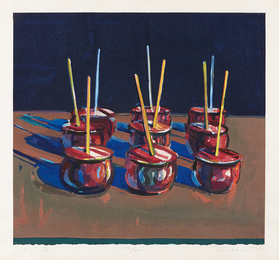 Wayne Thiebaud, 'Candy Apples,' 1987, Phillips: Evening and Day Editions (October 2016)