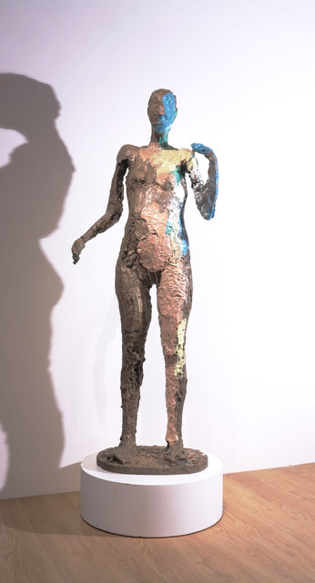 , 'Coming in Last Thursday (Cast 2/4),' 1981, Hackett Mill