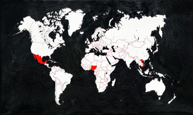 , 'Meccanismo di informazioni - Map,' 2015, Luisa Catucci Gallery