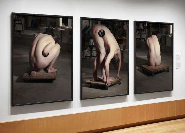 Chris Curreri, 'Model in a Sculptor's Studio', 2010, Photography, Chromogenic print, triptych, Daniel Faria Gallery