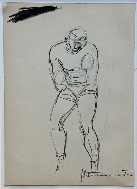 Fletcher Martin, '(Untitled) Double-sided Sketch of Boxers', ca. 1932, Kwiat Art