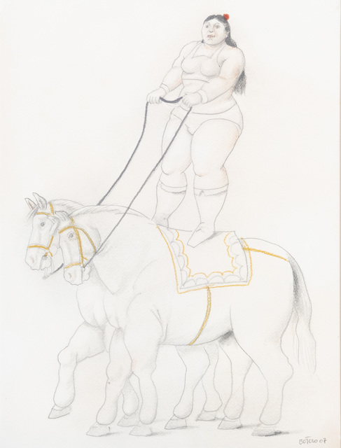 Fernando Botero, 'Woman on two horses', 2007, Opera Gallery