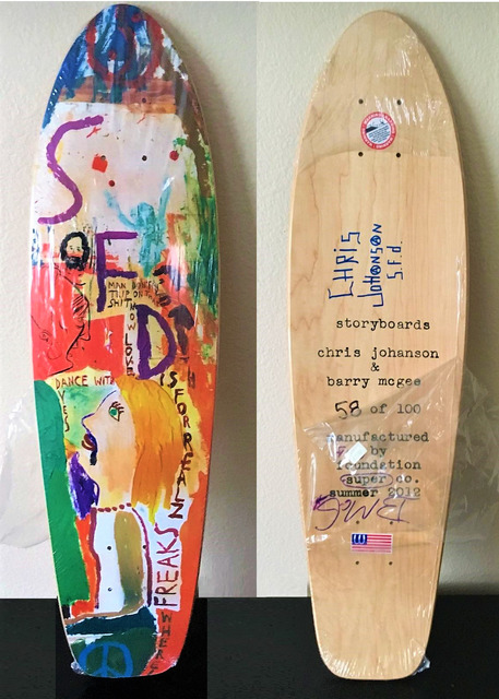 "Barry McGee, '""And Your Friends Are My Friends"", SIGNED by BOTH ARTISTS, Wood Skate Deck Edition', 2012, Sculpture, Wood, VINCE fine arts/ephemera"