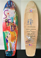 """Barry McGee, """"And Your Friends Are My Friends"""", SIGNED by BOTH ARTISTS, Wood Skate Deck Edition"""