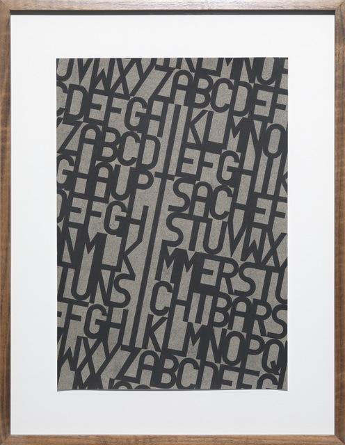 , 'Die Hauptsache ist immer unsichtbar. Lichtenberg,' 2014, Galerie Judith Andreae