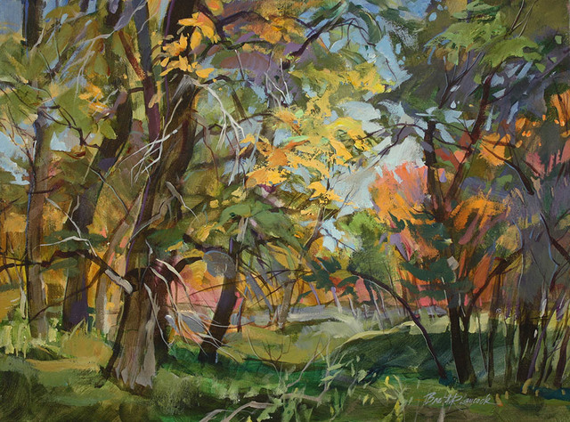 , 'Autumn Poplar Grove,' 2018, Wallace Galleries