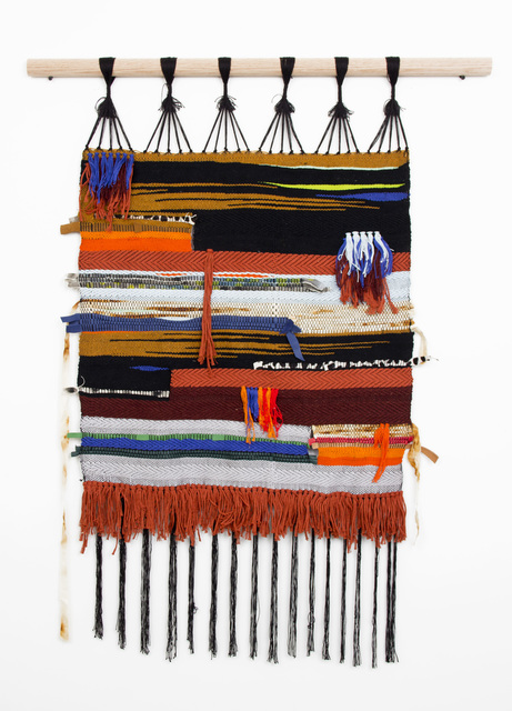 , 'Fifth Weaving (Rust and Twill 2),' 2016, Ochi Projects