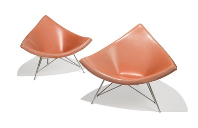 Pair of Coconut Lounge Chairs from Craig Ellwood's Hunt House