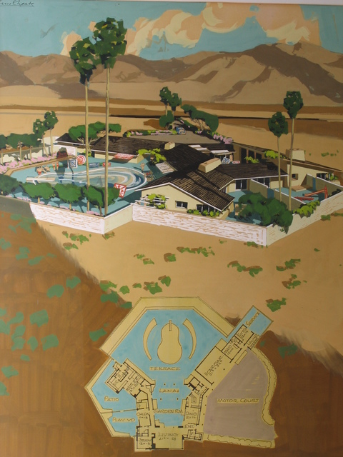 , 'Hauser Residence in Borrega Springs, rendered by Chris Coate (1908 - 1981),' ca. 1946, Edward Cella Art and Architecture