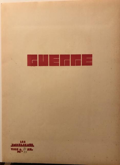 Maurice Estève, 'War, number 2', 1932, ArtGiverny