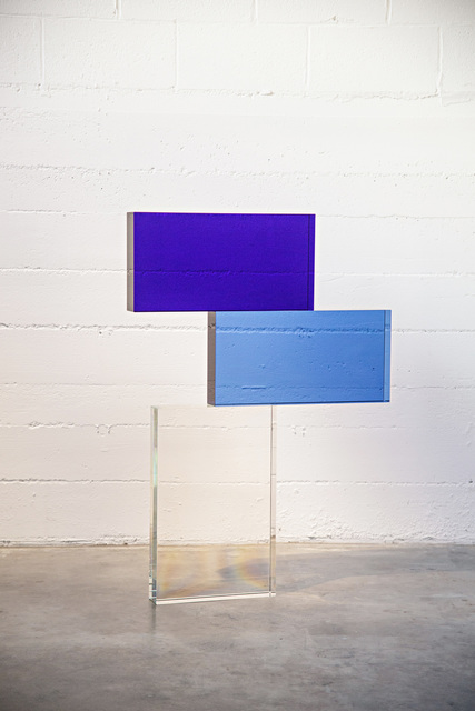 , 'BLUE AND CLEAR STACK,' 2019, Traver Gallery