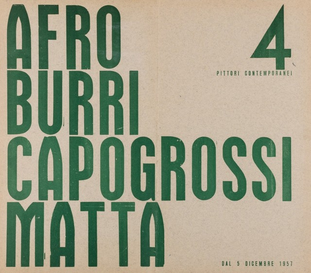 Various Artists, '4 pittori contemporanei', 1957, Finarte