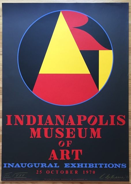 Robert Indiana, 'Indianapolis Museum of Art, Inaugural Exhibitions', 1970, Kwiat Art