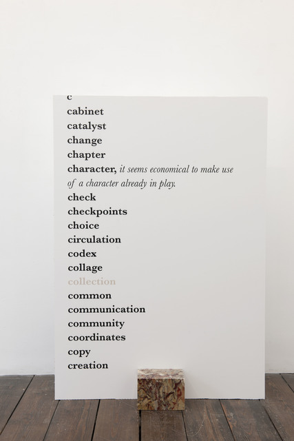 , 'Collection (recto),' 2014, Meessen De Clercq