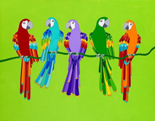 Michael Jernegan, 'Parrots ', 2018, design art concepts