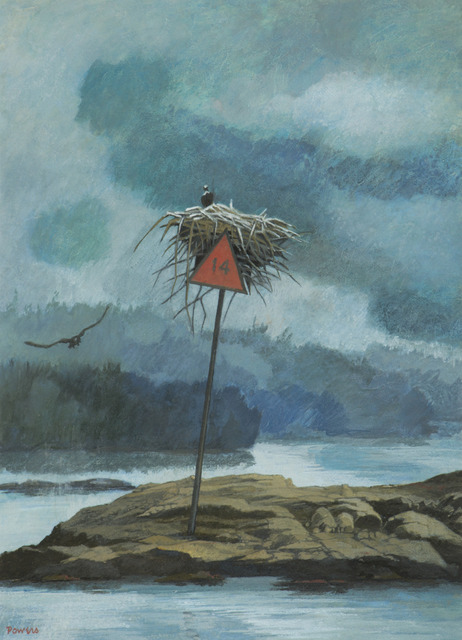 , 'The Osprey Nest on Daybeacon 14,' ca. 1992, Childs Gallery
