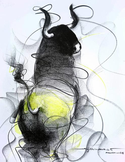 Sujth Kumar G.S. Mandya, 'Bull Drawing -  601', 2015, MayinArt