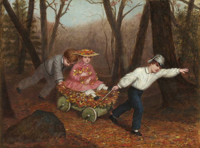 , 'Collecting Autumn Leaves,' 1868, Debra Force Fine Art