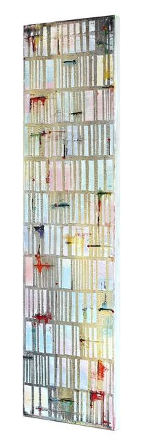 Petra Rös-Nickel, 'Happy White Stripes ', 2019, Painting, Mixed Media, Oil on Canvas, Artspace Warehouse