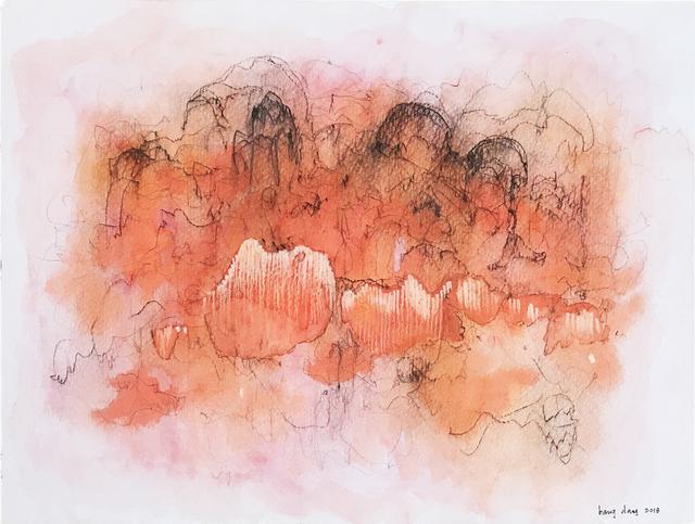 , 'Orange Cloud 1,' 2018, Jen Mauldin Gallery