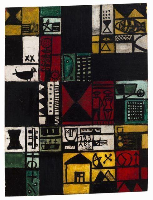 , 'Construcción con pareja y casa,' 1950, Galeria Sur