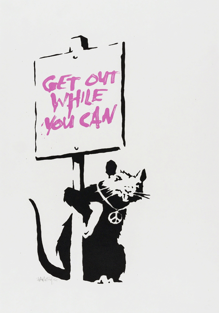 Banksy, 'Get Out While You Can (Pink)', 2004, Tate Ward Auctions
