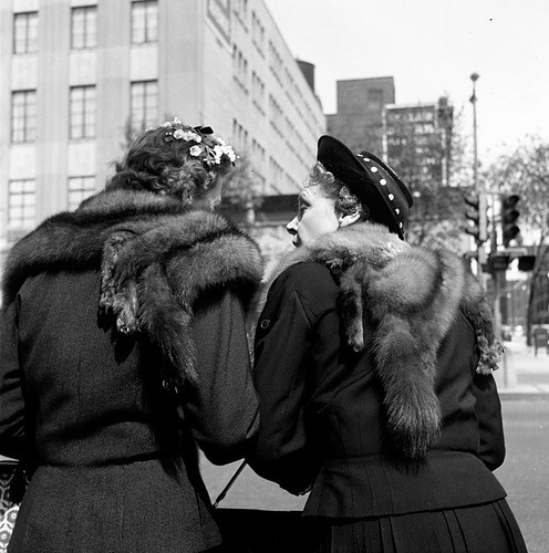 Vivian Maier, '0131541 – Untitled, 1957 2 Women with Fur Shawls', 2017, KP Projects