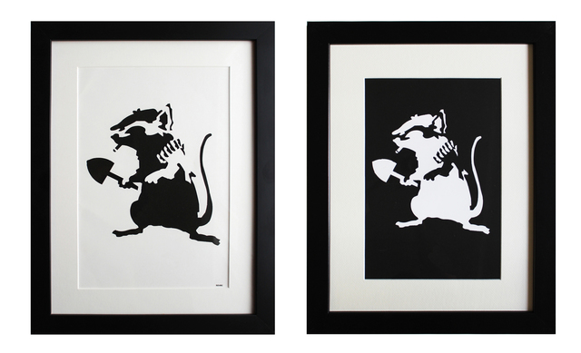 Banksy, 'Rat Stencil (extra framed reverse stencil included)', 2002, EHC Fine Art Gallery Auction