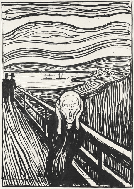 , 'The Scream,' 1895, Museo Thyssen-Bornemisza