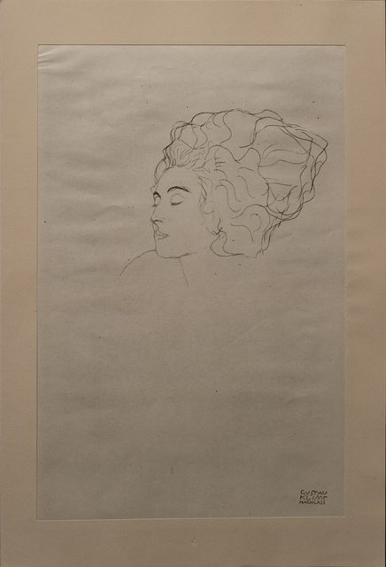 Gustav Klimt, 'Study of a Face', 1919, White Cross