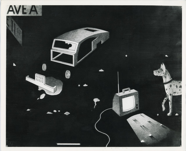 , 'Abandoned Car with Dog and TV,' 1977, P.P.O.W